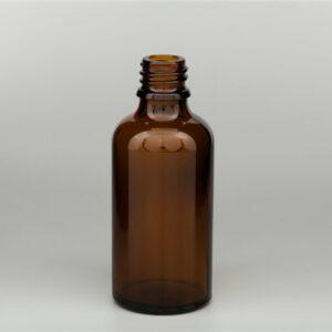 Fles AMBER DIN18 bruin glas 50 ml